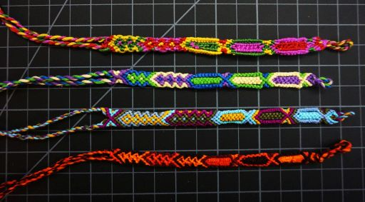 Click here to see dozens of styles of friendship bracelets