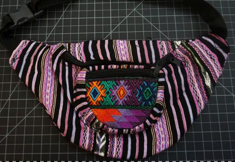 colorful purses, bags, apparel and more.