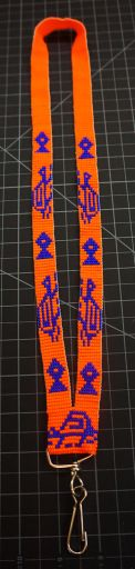 Beaded Turtle Lanyard