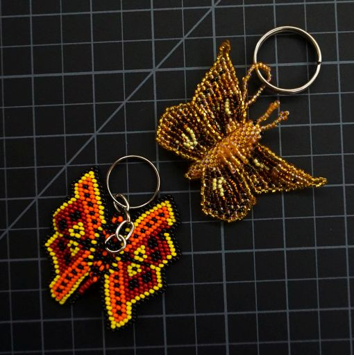 Beaded Butterfly Keychain
