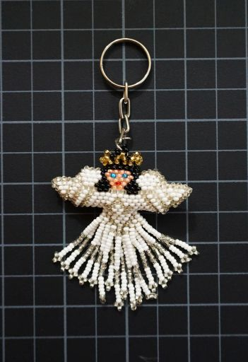 Beaded Angel Keychain