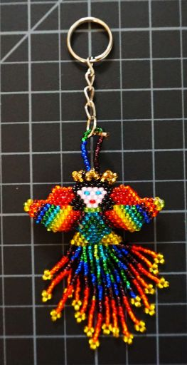 Beaded Angel Keychain - Rainbow rainbow