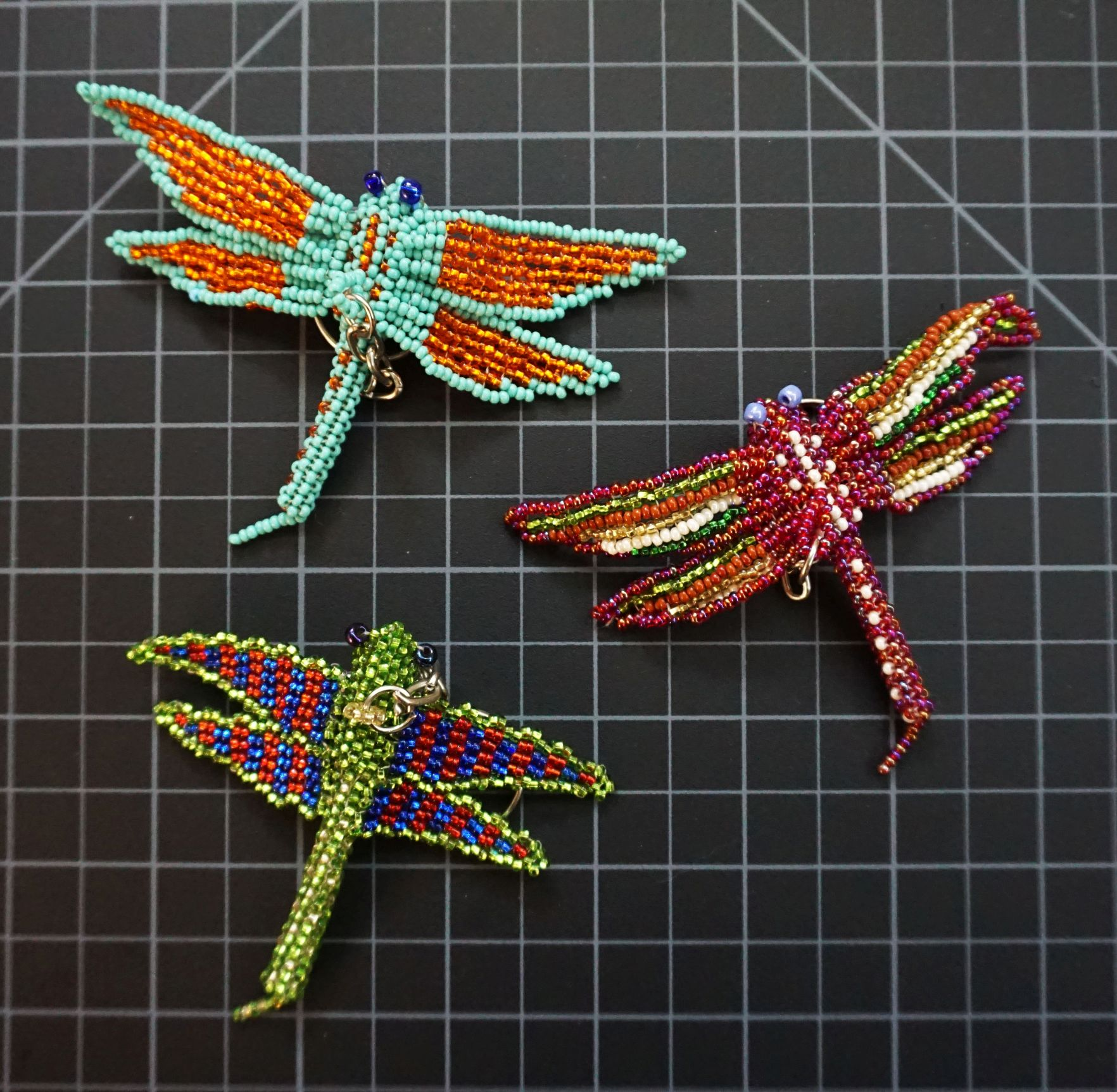 Beaded Dragonfly Keychain