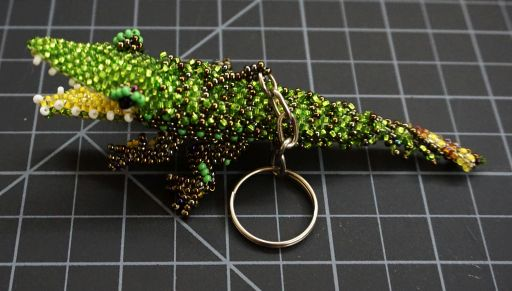 Beaded Alligator Keychain