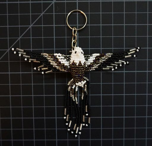 Beaded Eagle Keychain