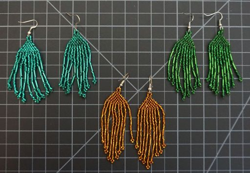 Beaded Traditional Earrings Solid