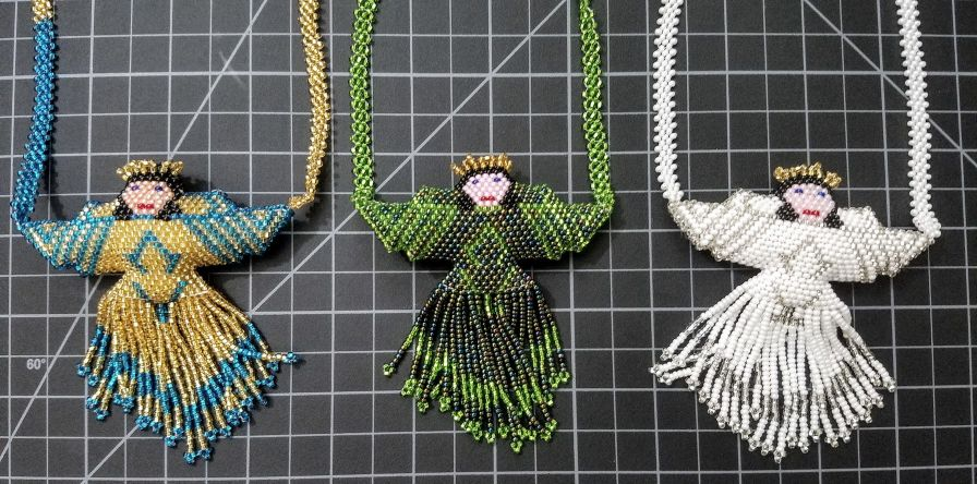 Beaded Angel Necklace large