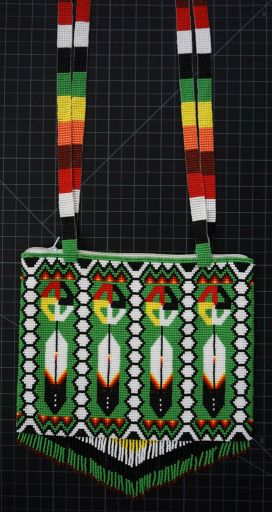Beaded Native American Style Purse - Large Native American style