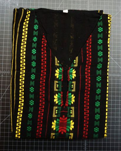 Rasta Embroidered Pullover Shirt