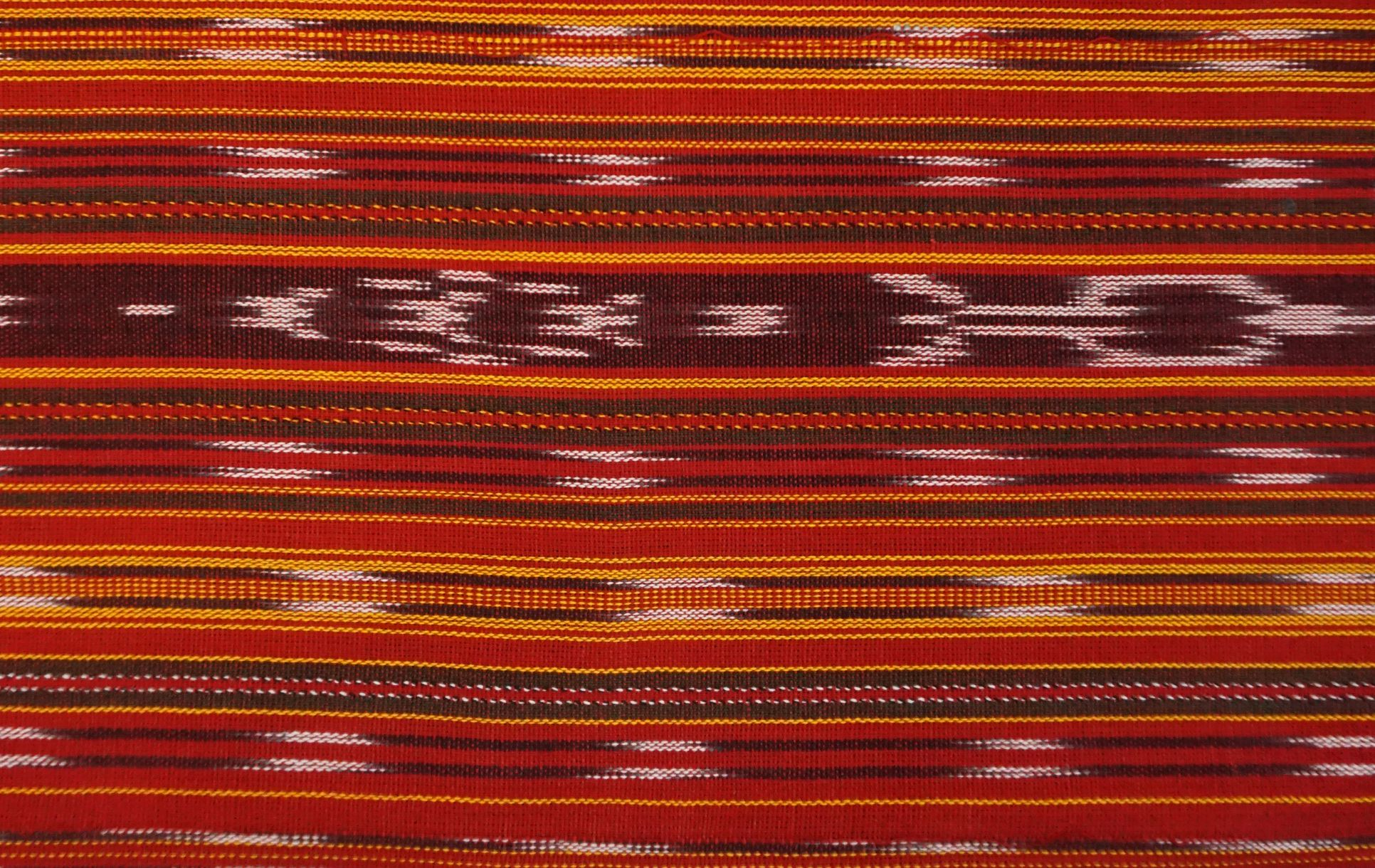 Jaspe Cloth (Ikat) Red Orange Yellow