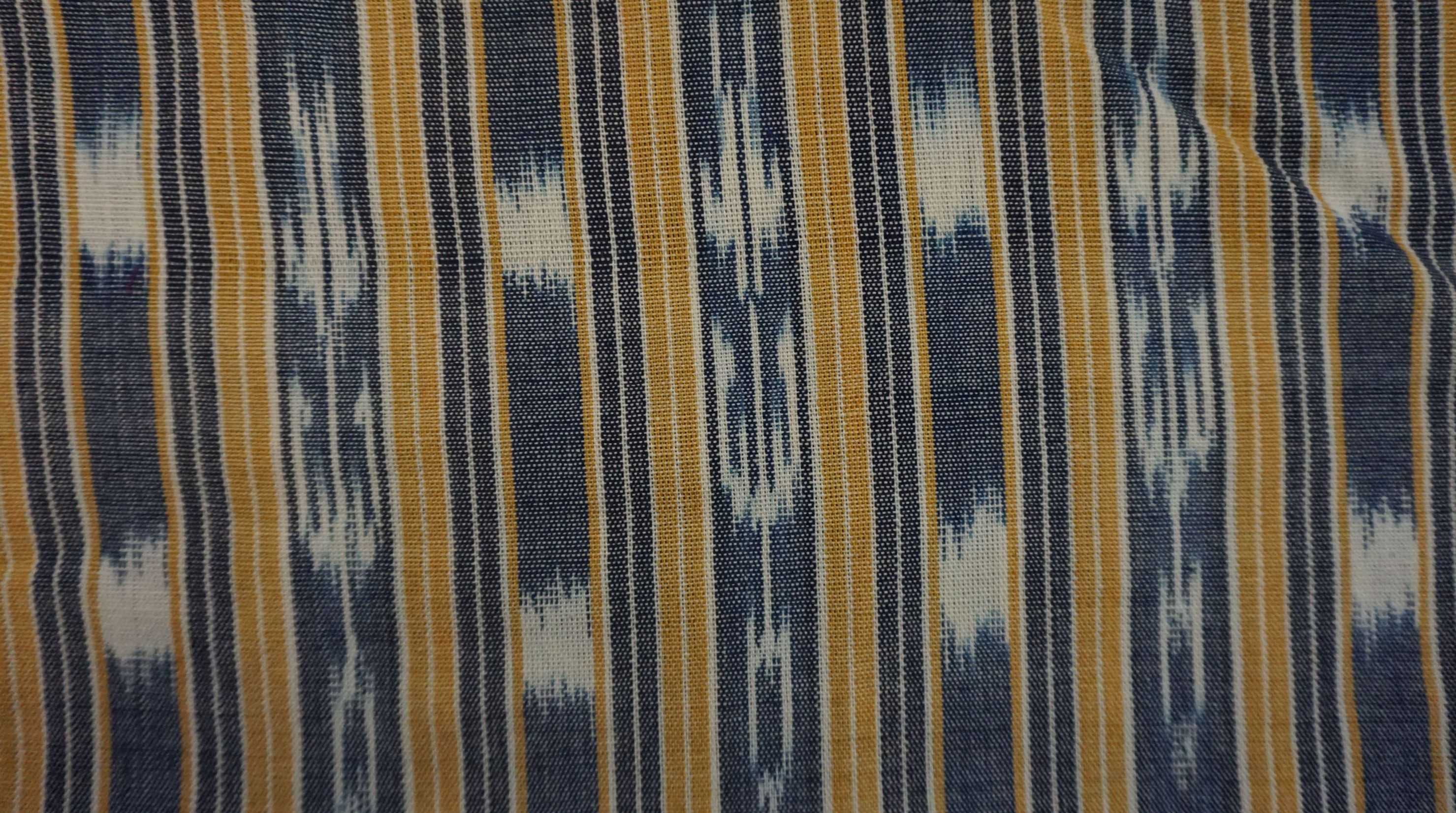 Jaspe Cloth (Ikat) Yellow White Blue