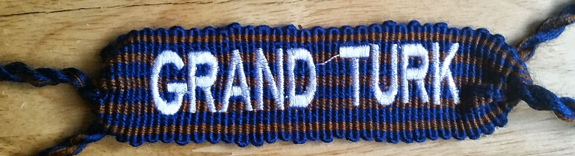 Custom Letters Machine Embroidered Cotton Friendship Bracelet Wide custom manufacturing