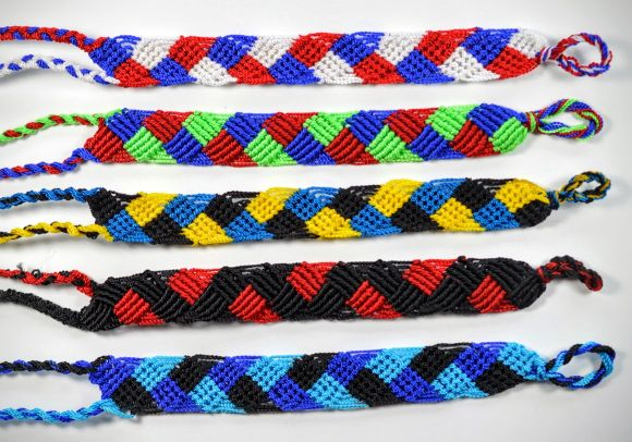 Nylon Friendship Bracelet Wide