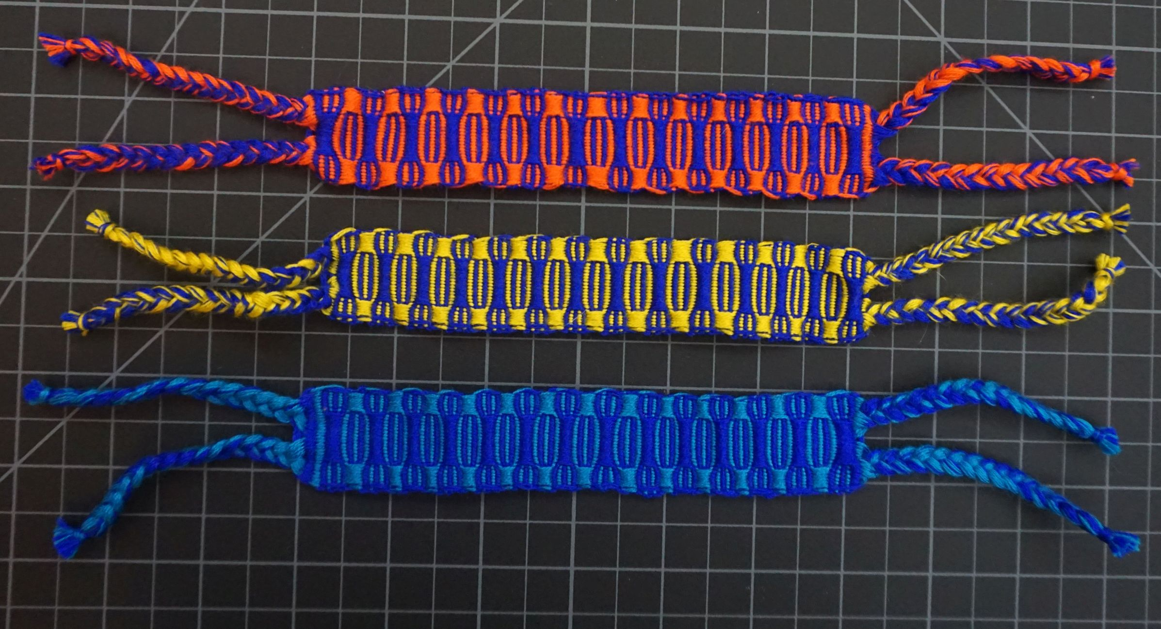 Bright Patterns Friendship Bracelet Wide