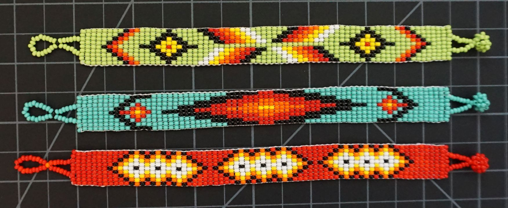Beaded 9 Row Native American Style Bracelet Native American style