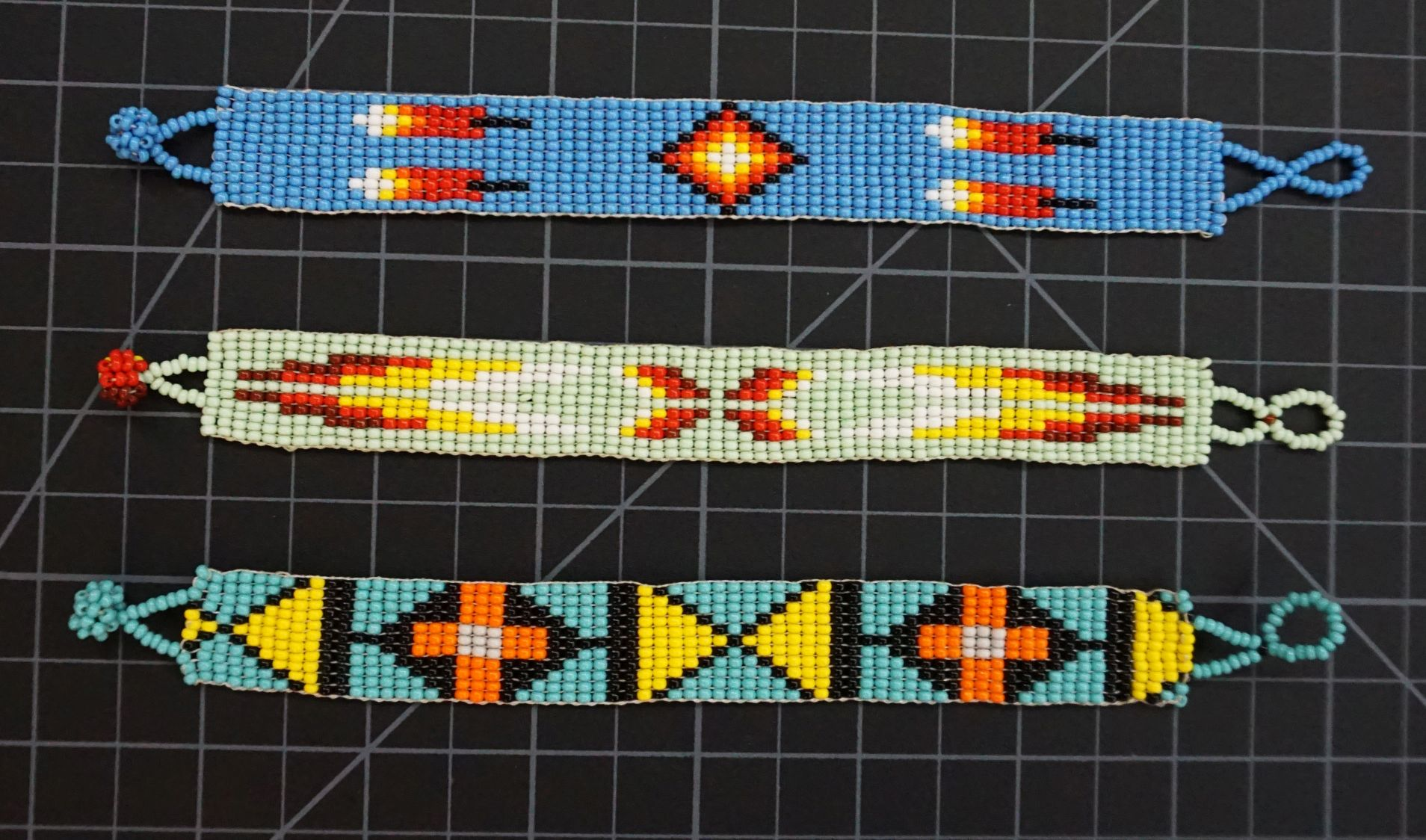 Beaded 11 Row Native American Style Bracelet Native American style