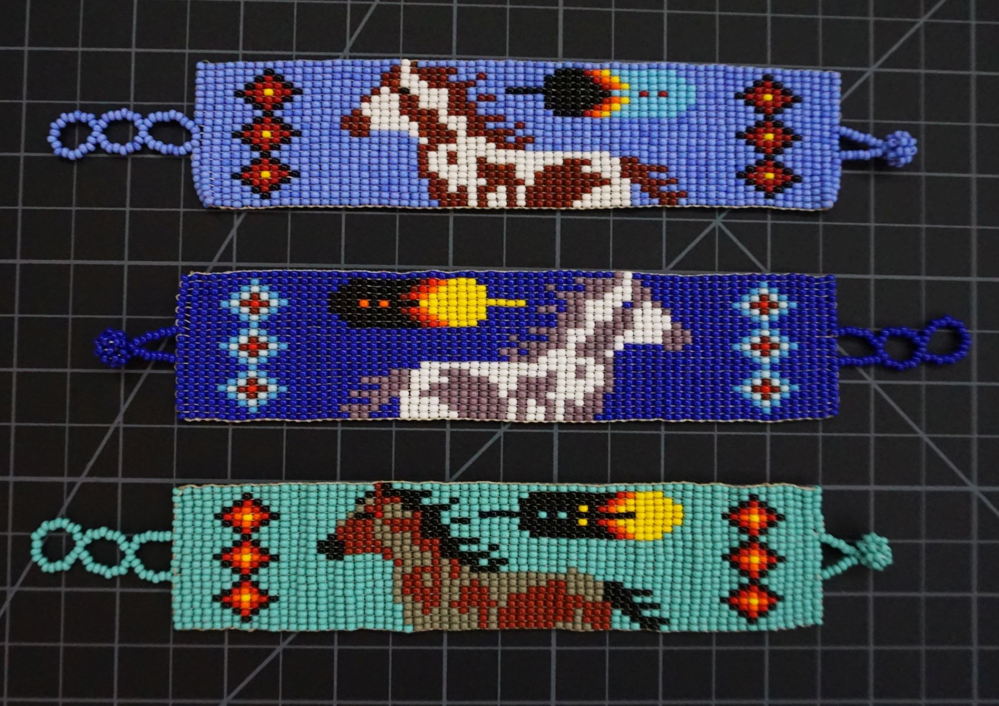 Beaded 21 Row Native American Style Horse Bracelet Native American style