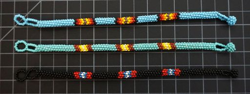 Beaded Native American Style Bracelet With Round Peyote Stitch Native American style