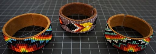 Leather Bead Cuff Native American Style 13 Row Native American Style