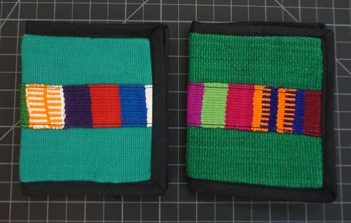 Solid Green Wallet with decorative belt Rainbow