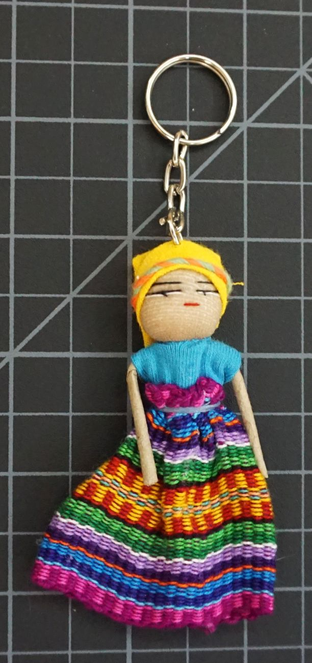 Worry Doll Flowing Dress Keychain