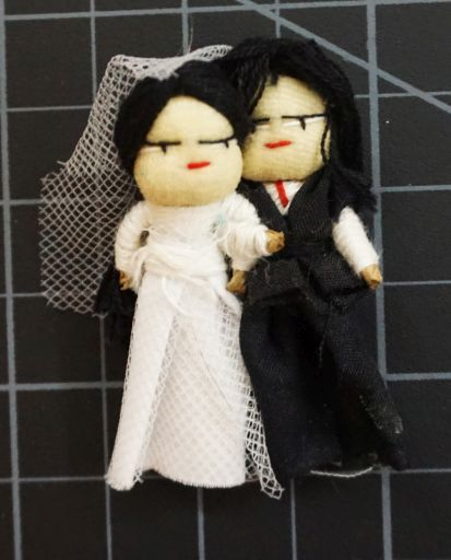 Bride And Groom Worry Doll