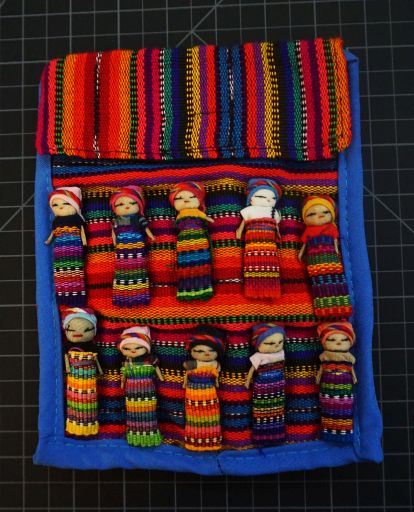 Worry Doll Purse With Flap Closure