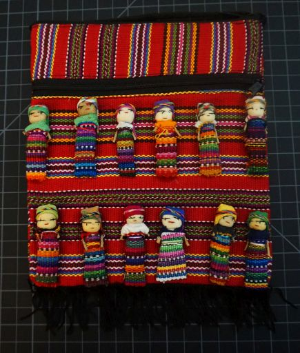 Worry Doll Purse With Zipper Close